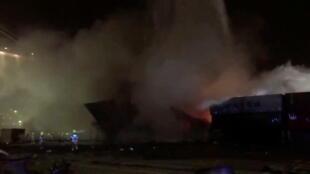 Incendio en Dubai
