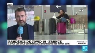 2020-03-31 14:08 Covid-19 en France : Suspension des vols commerciaux À Orly