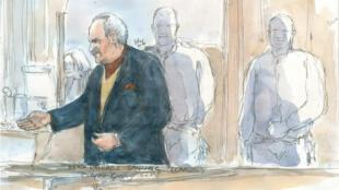 Ilich Ramirez Sanchez, dit Carlos, à la cour d'assise de Paris, le 9 décembre 2013.