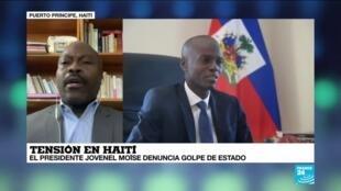"""2021-02-08 13:35 Gotson Pierre: """"Jovenel Moïse no tiene la confianza de la población haitiana"""""""
