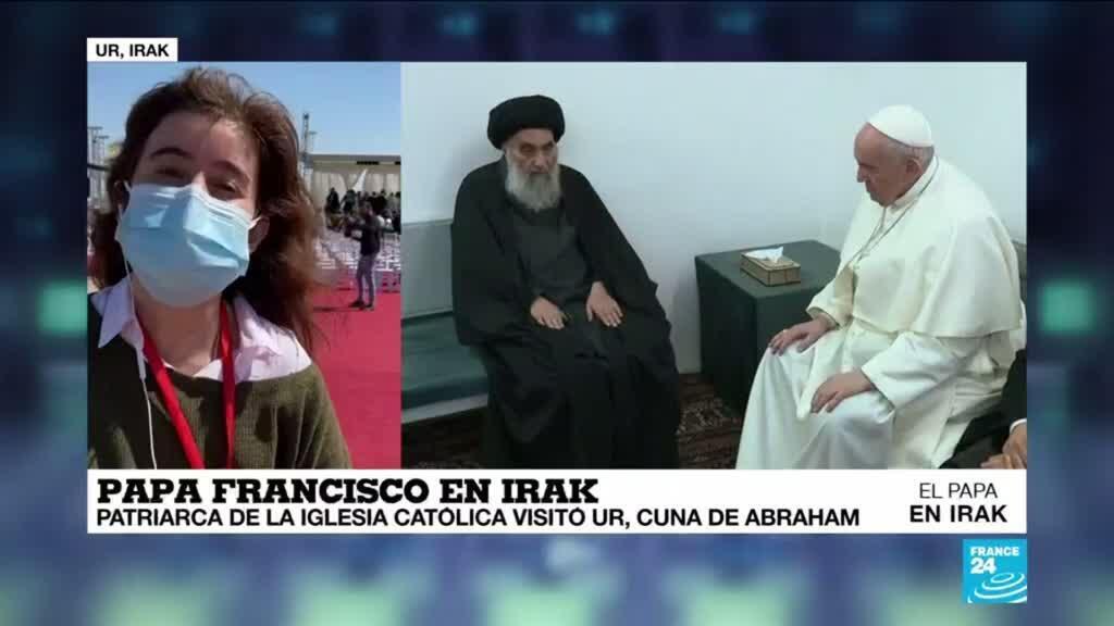 2021-03-06 13:32 Informe desde Ur: el Papa se reunió con el ayatolá Al-Sistani y llegó al hogar del profeta Abraham