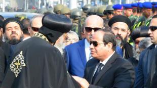 الرئيس المصري يقدم تعازيه لعائلات الضحايا