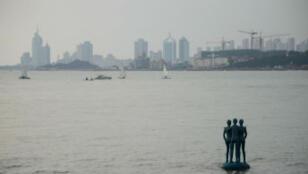 Vue sur la ville de Qingdao en Chine