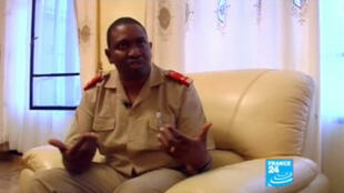 General Godefroid Niyombare pictured during an interview with FRANCE 24 in December 2011