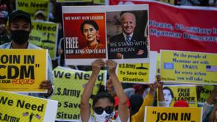 Myanmar protesters Biden