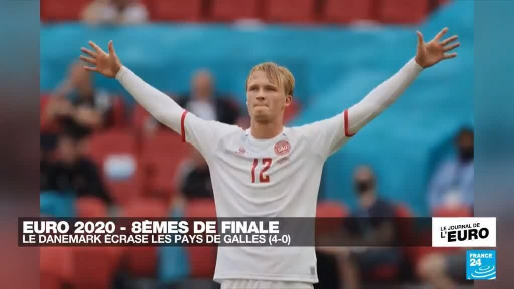 2021-06-26 23:50 EURO-2021 : Le Danemark écrase le Pays de Galles (4-0)