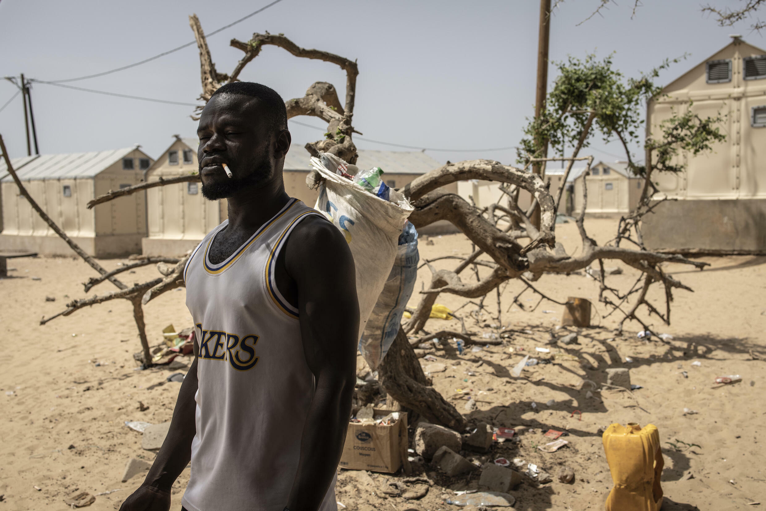 Many residents had no choice but to move to an internally displaced persons camp as their homes were engulfed by raging seas, coastal erosion and the collapsing soil beneath them.