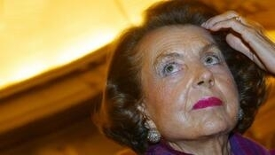 L'Oréal heiress Liliane Bettencourt (file photo)