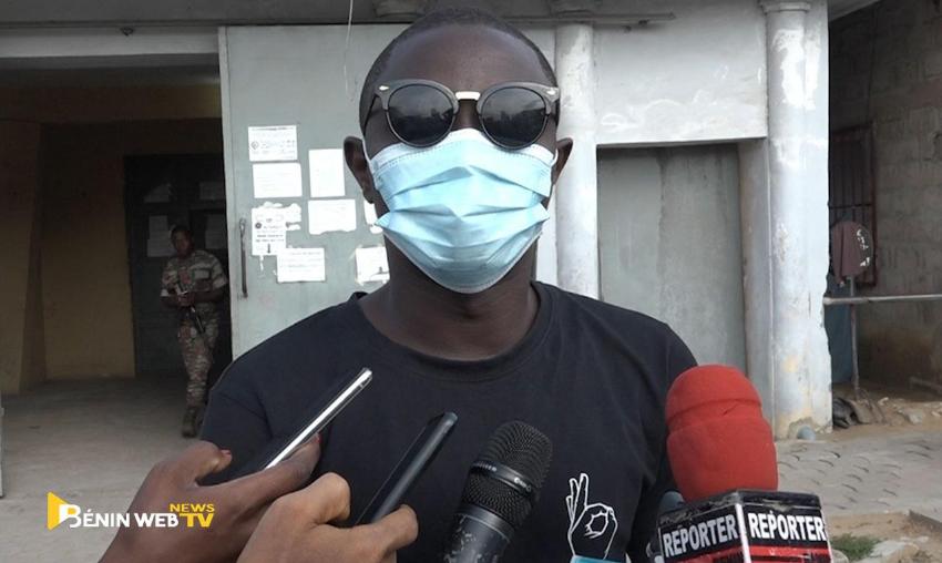 Ignace Sossou à sa sortie de prison, le 24 juin 2020.