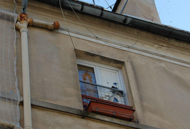 The Kojic family's apartment in Saint-Denis, located opposite Abdelhamid Abaaoud and his accomplices' hideout