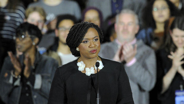 Ayanna Pressley is the first black woman to be elected to Massachusetts' 7th Congressional District.