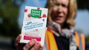 Manifestation des betteraviers contre la fermeture des usines de Saint Louis sucre, à Paris, le 7 mai 2019