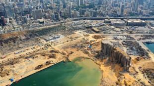 الدمار في مرفأ بيروت