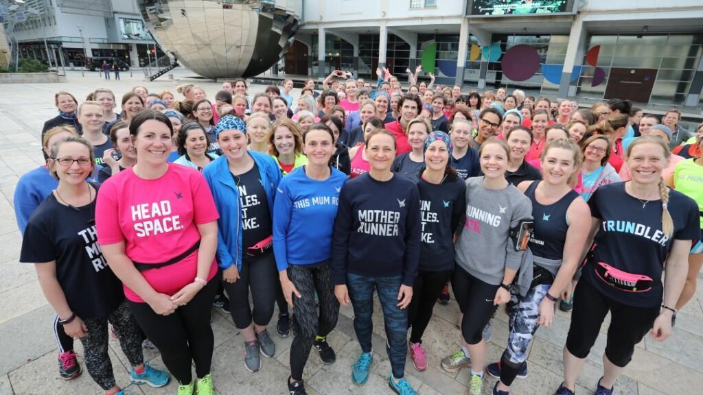 Imagen de archivo que muestra a varias integrantes del colectivo This Mum Runs.