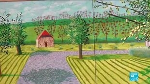 "British artist David Hockney's ""Ma Normandie"" (""My Normandy) show is on display at Galerie Lelong, Paris, until February 27, 2021."