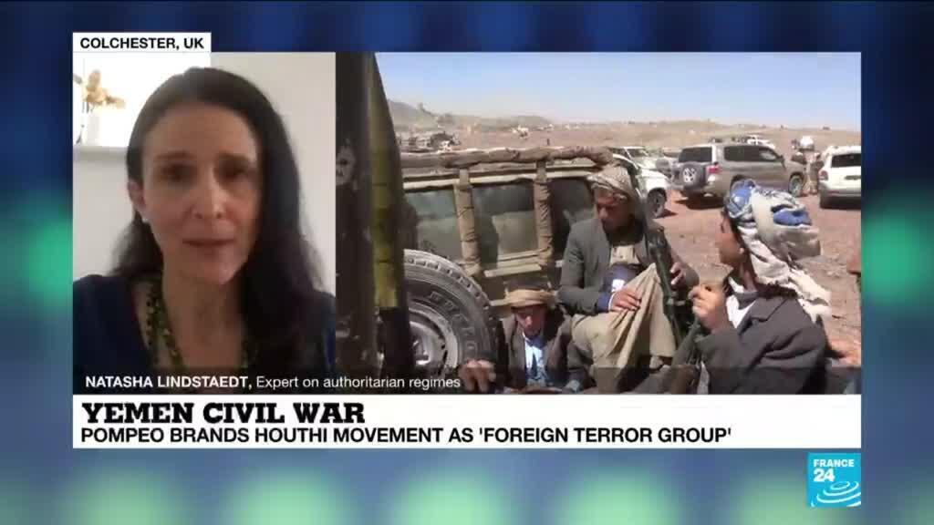 2021-01-11 12:04 Yemen civil war: Pompeo brands Houthi movement as 'foreign terror group'