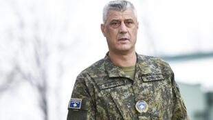 """Kosovo President Hashim Thaci, pictured December 2018, told reporters that if he is summoned by prosecutors to an EU-backed international court investigating alleged war crimes, he will answer """"with the fullest transparency"""""""