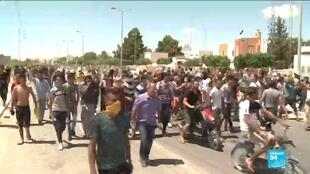 Demonstrators in Tataouine, Tunisia want the country's government to make good on a 2017 promise of oil and gas jobs.