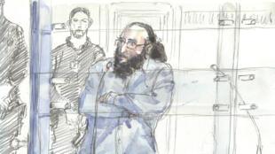 Abdelkader Merah, dans le box des accusés, le 20 octobre 2017, à la cour d'Assises de Paris.