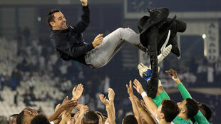 Xavi led Al-Sadd to victory in  Qatar Cup in January