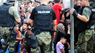 L'armée a été déployée à la frontière gréco-macédonienne, près de la ville