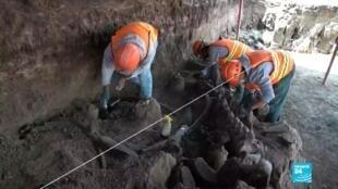 2020-07-25 10:10 Des dizaines de squelettes de mammouths sous le chantier de l'aéroport de Mexico
