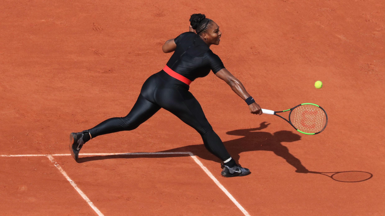 Serena Williams en Roland Garros, en junio de 2018.