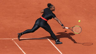 Serena Williams en Roland Garros, en junio de 2018.