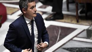 Gérald Darmanin pictured at the National Assembly (lower house) on July 28, 2020.