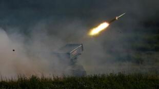 Un système de missile russe Tornado-G a été lancé à Alabino, le 25 juin 2019, près de Moscou.