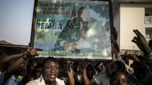 Des partisans de Jean-Pierre Bemba, lors d'un rassemblement à Kinshasa, le 8 juin.