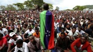 قومية سيداما في حواسا يتظاهرون للمطالبة بإقامة منطقة جديدة خاصة بهم - 17 يوليو/تموز 2019