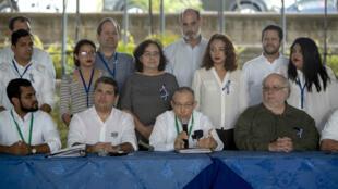 Miembros de la opositora Alianza Cívica participan en una conferencia de prensa el viernes 9 de marzo en Managua, Nicaragua.
