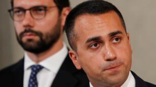 El líder del Movimiento 5 Estrellas, Luigi Di Maio, se dirige ante los medios tras la ronda de consultas con el presidente de la República, Sergio Mattarella, del jueves 22 de agosto.