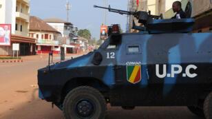 Des Congolais de l'UPC (police de la force africaine) en Centrafrique