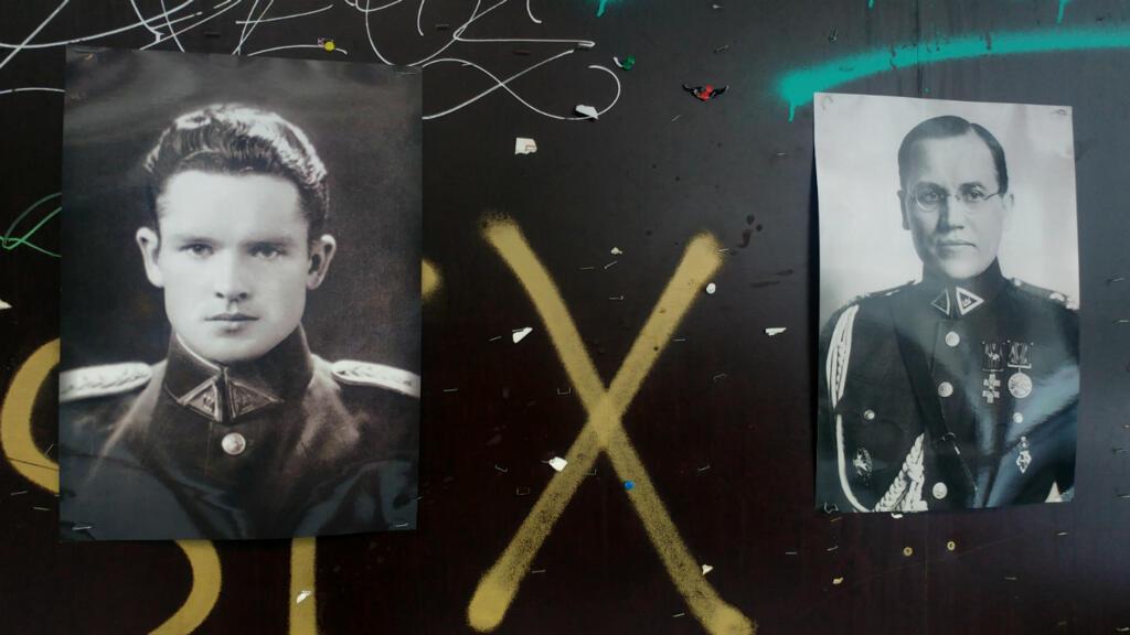 Des portraits de Jonas Noreika et de Kazys Škirpa