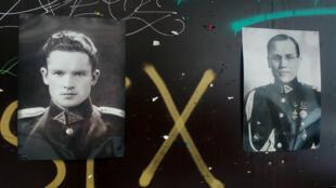 Des portraits de Jonas Noreika et de Kazys Škirpa ont été posés dans les rues de Vilnius pour critiquer la décision de la ville d'enlever une plaque et de débaptiser une rue à leurs noms.