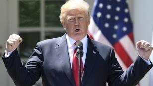 Le président américain Donald Trump à la Maison Blanche, lundi 30 avril 2018.