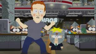 """Mark Zuckerberg dans l'épisode """"Franchise Prequel"""" de """"South Park"""", le 12 octobre 2017."""