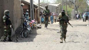 Des soldats nigérians à Baga, en avril 2013.
