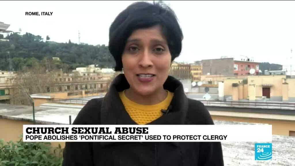 2019-12-17 15:34 Pope's decision to abolish 'pontifical secret' is a 'massive change', France 24's Seema Gupta says