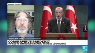 2020-11-18 09:10 Turkey to impose new measures to fight coronavirus surge, Erdogan says