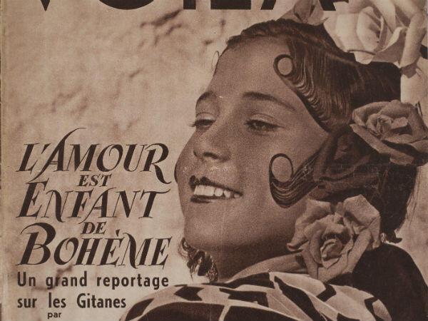 """Voilà, """"le magazine du reportage"""", consacre sa une aux femmes tsiganes en décembre 1937"""