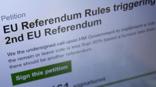 La pétition avait recueilli près de quatre millions de signatures mardi.