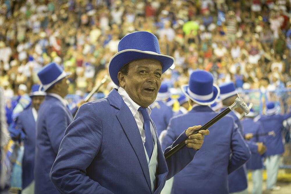 Portela es, junto a Mangueira, una de las escuelas de samba más antiguas de Río de Janeiro. Fue fundada en 1923. La Vieja Guardia es una de las alas más entrañables dentro de la escuela de samba. Tiene la función de velar por las tradiciones de la institución. Escuela Portela (Carnaval 2018).