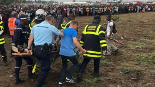 Cuerpos de rescate atiendieron el accidente del avión de carga en Costa de Marfil.