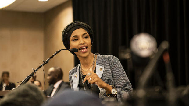 Ilhan Omar of Minnesota (pictured) and Rashida Tlaib of Michigan will be the first Muslim women to serve in Congress.