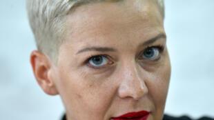 زعيمة الاحتجاجات في بيلاروسيا  ماريا كوليسنيكوفا