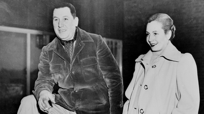Retrato de juventud de Juan Domingo Perón y Eva Duarte