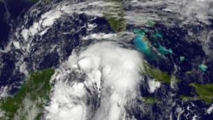 Image satellite de l'ouragan Nate